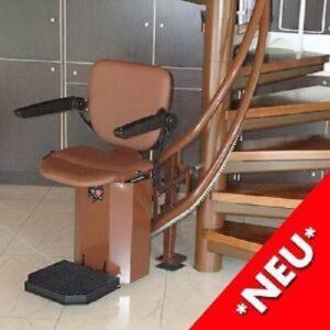 Neuer Treppenlift für Wendeltreppen Button